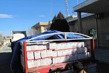 کامیون حامل 25 تن ذرت قاچاق در دلیجان توقیف شد