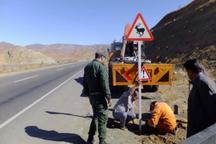 تابلوهای جاده های هرمزگان31 میلیارد ریال خسارت دید
