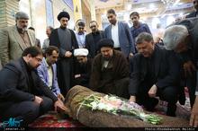 مراسم تشییع پیکر مرحوم حاج سید علی صدر در تهران