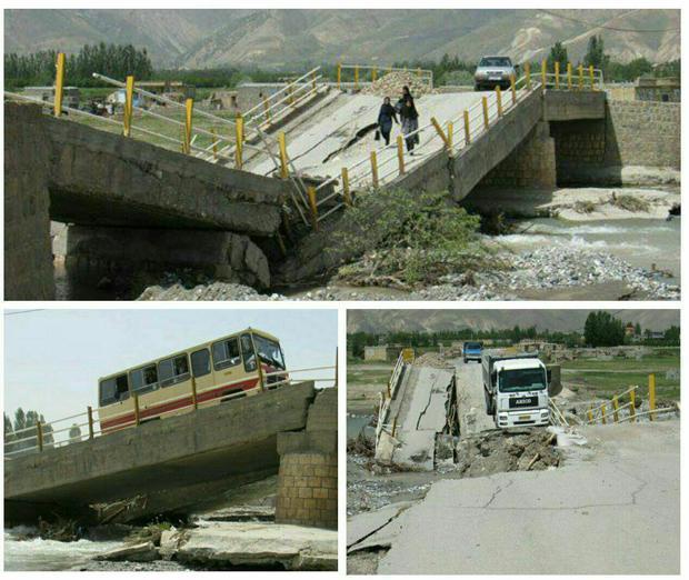 بازسازی دوباره پل گلستانه ارومیه پیگیری می شود