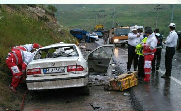 سانحه رانندگی در گردنه صایین یک کشته برجای گذاشت