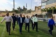 نمایندگان سازمان لیگ و استانداری از ورزشگاه مسجدسلیمان بازدید کردند