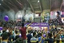 جشن پیروزی دکتر حسن روحانی در کرمانشاه برگزار شد