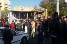 جان باختن یک کارگر بر اثر سقوط تابلوی تبلیغاتی در تبریز