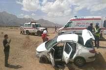 واژگونی خودرو در محور مهریز به انار با یک کشته و 2مصدوم