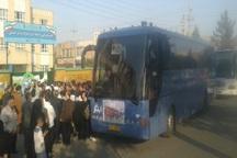 دانش آموزان پارس آبادی عازم مناطق عملیاتی شدند