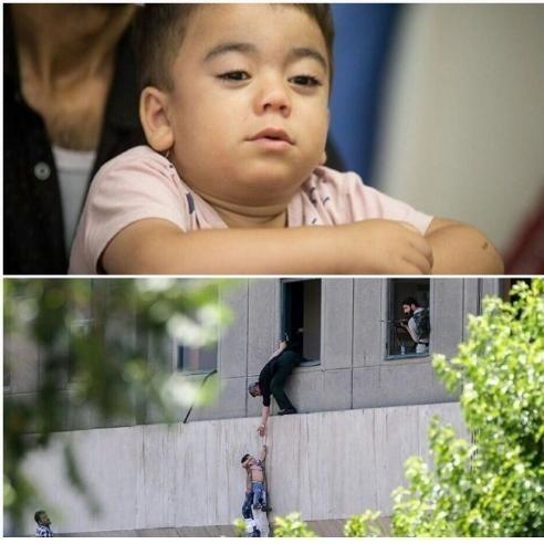 درددل پدر کودکی که از حمله به مجلس نجات یافت