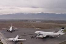 اولین هواپیمای مسافربری در فرودگاه پیام کرج به زمین نشست