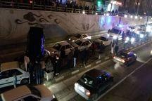 تصادف زنجیره ای در تبریز 7 مصدوم به جا گذاشت