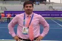 قضاوت داور تنیس همدان در نخستین گرند اسلم سال 2018