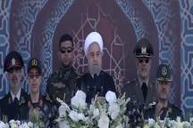 آغاز مراسم رژه نیروهای مسلح با حضور رییسجمهور