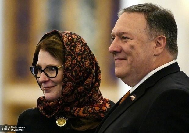 روسری همسر پمپئو با طرح ایرانی! + عکس
