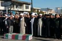 پیکر یک شهید گمنام در شهر خان ببین رامیان تشییع و خاکسپاری شد