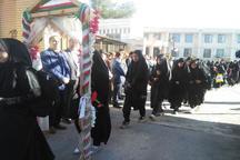 250 دانش دختر ملکشاهی به یادمان های دوران دفاع مقدس اعزام شدند