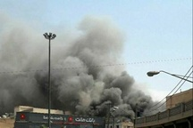 آتش سوزی یک مجتمع تجاری در اهواز