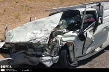 سرعت زیاد راننده وانت را به کام مرگ کشاند