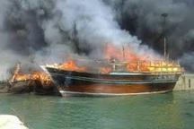 اتصالی برق موتور 14 قایق صیادی در میناب را طعمه حریق کرد