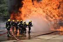 مهار آتشسوزی کوره کارخانه ماشینسازی اراک  یک نفر مصدوم شد