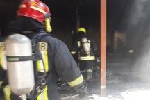 آتش سوزی منزل مسکونی در سبزوار 2 مصدوم داشت