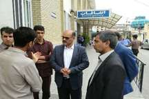 عیادت نماینده وزیر علوم از دانشجویان بیمار دانشکده فنی شهید باهنر شیراز