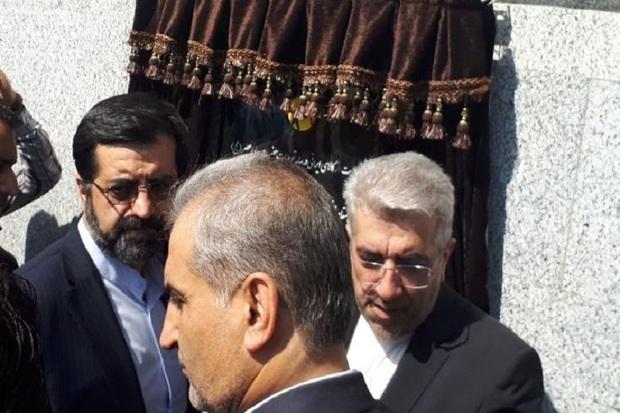 پست 230 کیلو ولت  گرمی با حضور وزیر نیرو افتتاح شد