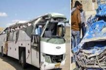 2 کشته و 13 زخمی در برخورد مرگبار نیسان با اتوبوس در محور مشکین شهر - اهر