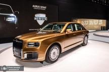 رونمایی از خودروی طلایی پوتین در ژنو+ تصاویر