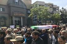 پیکر مطهر شهید مرزبانی در ارومیه تشییع شد