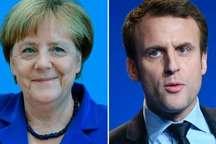مرکل: مکرون امید میلیون ها اروپایی را همراه دارد