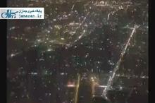 تهران از نمای بالا در شب چهارشنبه سوری