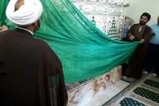 ضریح امامزاده بی بی هاجر حسنآباد رونمایی شد
