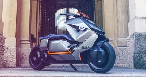 رونمایی بی ام و از یک موتورسیکلت برقی