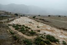 سیلاب 2 راه ارتباطی در شهرستان اندیکا و لالی را مسدود کرد