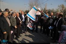 راهپیمایی نمازگزاران تهران در محکومیت اغتشاشات اخیر