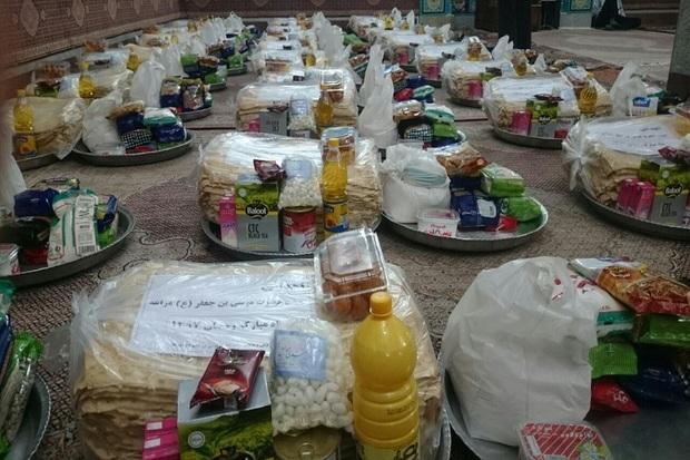 500 سبد کالا بین مددجویان بهزیستی عجب شیر توزیع شد