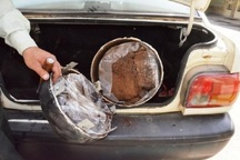 خودروی پراید حامل 19 کیلوگرم تریاک در قزوین توقیف شد