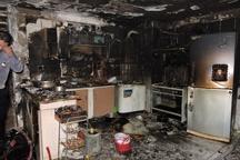یک منزل مسکونی در اهواز طعمه حریق شد