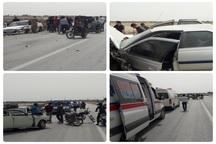تصادف چهار خودرو در شادگان 6 مصدوم داشت