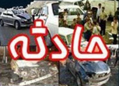5 مصدوم در تصادف در آزادراه کرج - قزوین