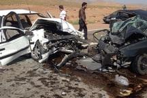 تصادف در جاده بهبهان - رامهرمز 2 کشته و یک مجروح برجا گذاشت