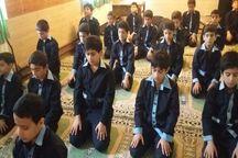 دانش آموزان البرز سال تحصیلی جدید را با اقامه نماز آغاز می کنند