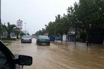 بارش شدید باران باعث آبگرفتگی شهرهای مازندران شد
