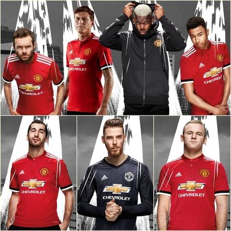رونمایی از پیراهن اول منچستر یونایتد در فصل 2017/18