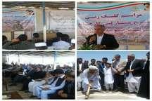 بزرگترین طرح تولید جوجه یک روزه در خاش سیستان و بلوچستان کلنگ زنی شد