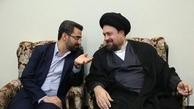 محمد جواد آذر جهرمی با سیدحسن خمینی دیدار کرد