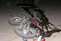 مرگ راکب موتورسیکلت در تصادف رانندگی در جاده مرزی گنبدکاووس