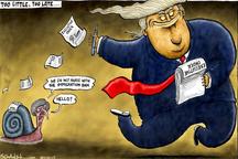 کاریکاتور/ خیلی کم، خیلی دیر