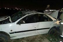 واژگونی پژو فوت یک نفر و مصدومیت چهار نفر را در پی داشت