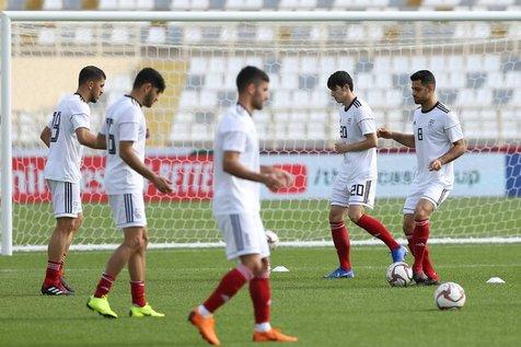 آخرین تمرین تیم ملی پیش از بازی با چین