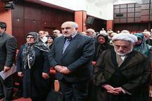 حضور عبدالله نوری در مراسم بزرگداشت مریم میرزاخانی+ تصویر